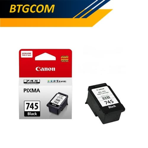 Foto Produk Canon 745 Black Hitam BK Tinta Catridge Catrid PG745 PG Ori dari BTGCOM