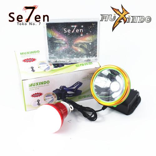Foto Produk G78 Senter Kepala LED Bonus Bohlam Lampu Emergency dari Toko No.7