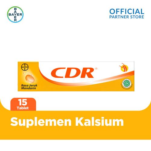 Foto Produk CDR Suplemen Kalsium Rasa Jeruk 15 Tablet dari Bayer Health Partner
