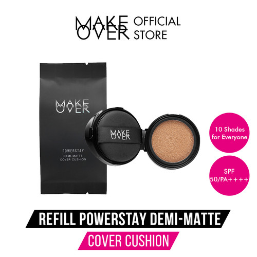 Foto Produk MAKE OVER Refill Powerstay Demi-Matte Cover Cushion - C51(Exp6-12bl ) dari Make Over Official Shop