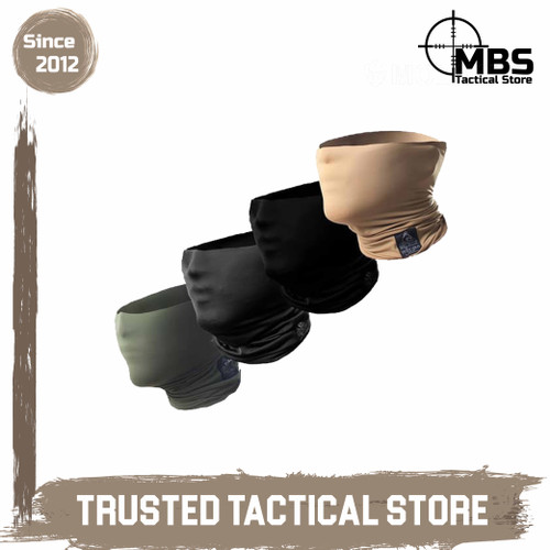 Foto Produk Tactical Neck Gaiter Molay Masker Facewrap Masker Tactical - Black dari MBS Tactical Store