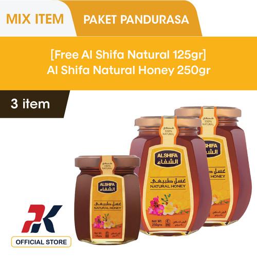 Foto Produk [Buy 2 Get 1 Free] Al Shifa Natural Honey 250gr 2 pcs Free 125gr dari Pandurasa Official Store