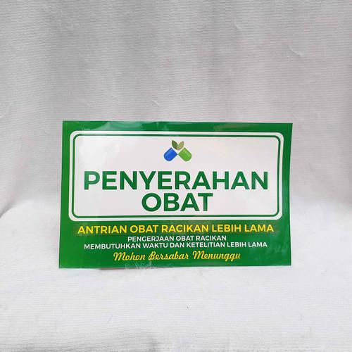 Foto Produk Stiker Penerimaan Resep dan Penyerahan Obat - Penyerahan Obat dari Syafana