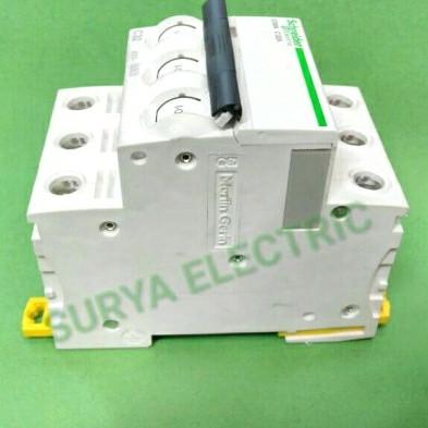 Foto Produk MCB Schneider Acti9 IC60N 3 Phase 3P 3Pole 63A C63 A Amper 10kA Ori dari SURYA-ELEKTRIK