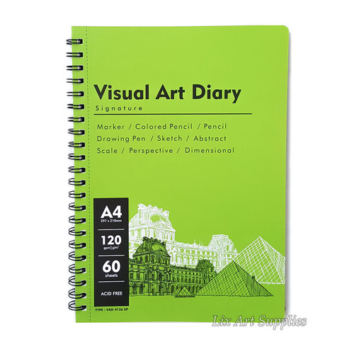Foto Produk V-Tec Visual Art Diary Spiral Sketchbook A4 - 60 lembar / 120 gsm dari Lix Art Supplies