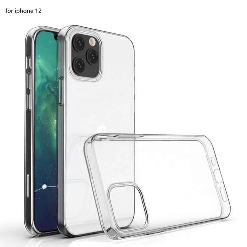 Foto Produk Casing Case Transparan Bening iPhone 12 mini 12 Pro Max Soft Case wb - 12 Pro Max dari White Black