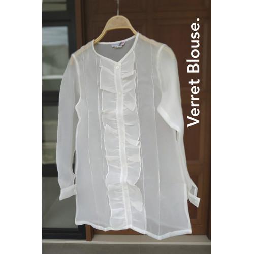 Foto Produk Verret Blouse White (Sample Sale) dari SimplyMiiOfficial