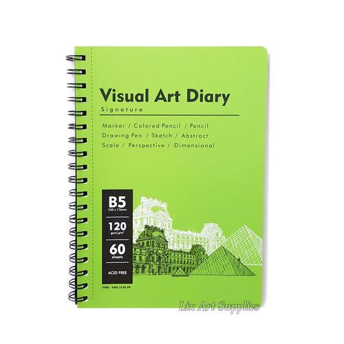 Foto Produk V-Tec Visual Art Diary Spiral Sketchbook B5 - 60 lembar / 120 gsm dari Lix Art Supplies