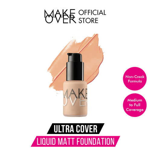 Foto Produk MAKE OVER Ultra Cover Liquid Matt Foundation - 01 Ochre dari Make Over Official Shop