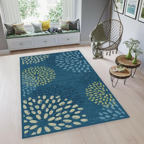 Foto Produk ARTSY - Karpet Living Room Anti Slip - 90 x 150 cm - Biru dari ARTSY OFFICIAL STORE