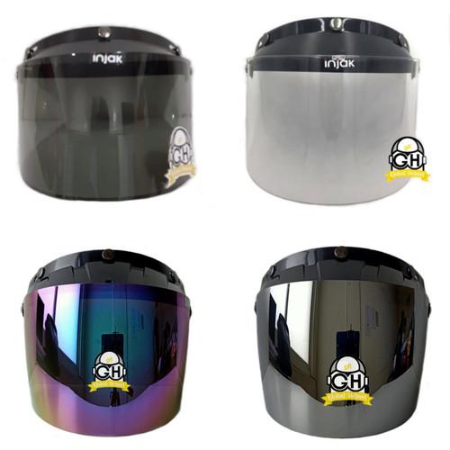 Foto Produk KACA VISOR FLAT INJAK UNTUK HELM BOGO RETRO CARGLOSS JPN KACA INJAK - CLEAR dari Global helmet