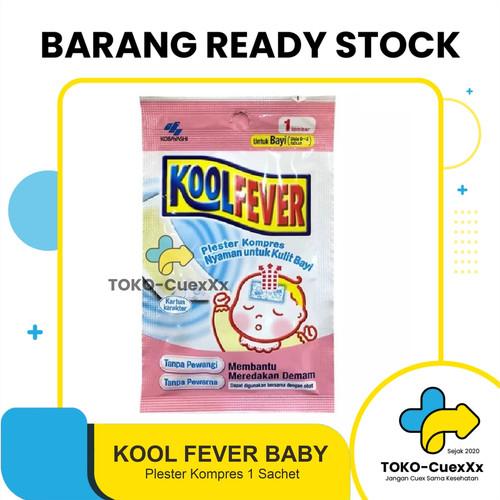 Foto Produk Kool Fever Baby - plester kompres [1 SACHET] dari TOKO-CuexXx