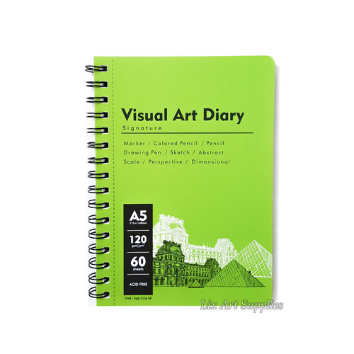 Foto Produk V-Tec Visual Art Diary Spiral Sketchbook A5 - 60 lembar / 120 gsm dari Lix Art Supplies