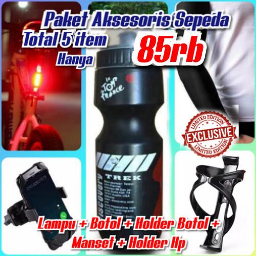 Foto Produk Paket Botol Sepeda Holder Botol Sepeda Lampu Sepeda Manset dari Sandi Media