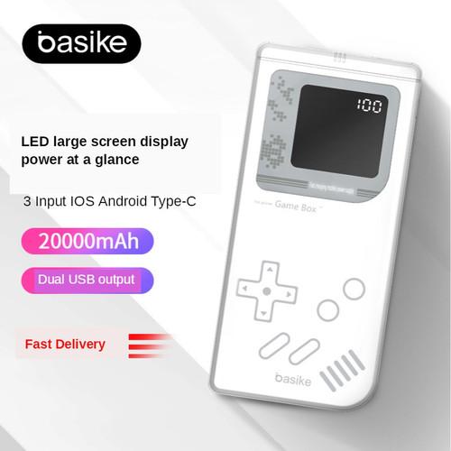 Foto Produk PowerBank 20000 mah Power Bank Murah Mini Dual USB LED BASIKE Fast - PI120A dari Basike Official Store