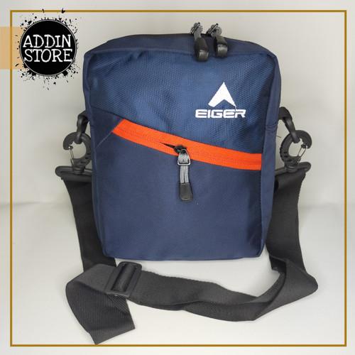 Foto Produk Sling Bag EIGER Tas Selempang EIGER MURAH Tas Pria Waistbag EIGER 041 - Biru dari Addin Official