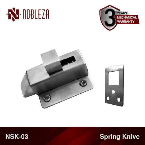 Foto Produk NOBLEZA NSK-03 Spring Knive Knip Slot Kunci Jendela Stainless dari Nobleza Hardware