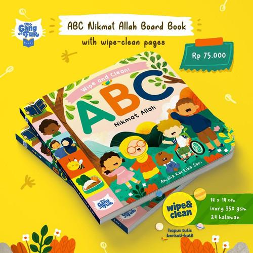 Foto Produk ABC Nikmat Allah Board Book with wipe-clean pages & Gratis Bonus spido dari HappyBunnyBooks