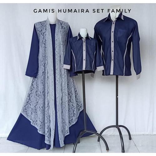 Foto Produk HUMAIRA SET FAMILY GAMIS COUPLE BAJU LEBARAN KELUARGA GAMIS PESTA - Gamis, 0-1y dari Lintang Fashion