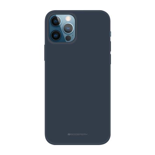 Foto Produk GOOSPERY iPhone 12 6.1 & iPhone 12 Pro 6.1 Soft Feeling Jelly Case - Midnight Blue dari Goospery Indonesia