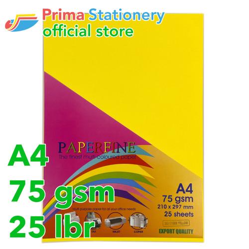 Foto Produk Kertas HVS Warna Paperfine Cyber Yellow dari Prima Stationery