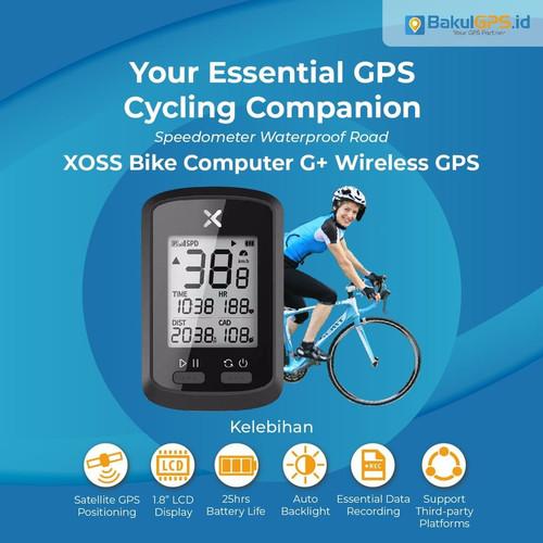 Foto Produk Speedometer / Sepeda XOSS G+ dengan GPS Bluetooth ANT+ dari BakulGPS.co.id