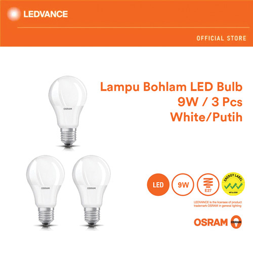 Foto Produk Osram Lampu Bohlam LED Bulb 9 Watt 3 Pcs - Putih dari Ledvance Official Store