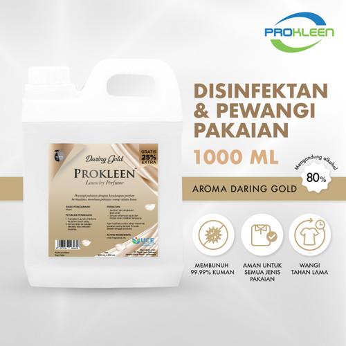 Foto Produk Fabric Spray Antibacterial Parfum Laundry PROKLEEN 800mL BONUS ISI 25% - Daring Gold dari United Cleaning Official