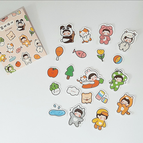 Foto Produk Sticker Set Pet Park Cute | Planner Bullet Journal Scrapbook Deco dari The Book ID