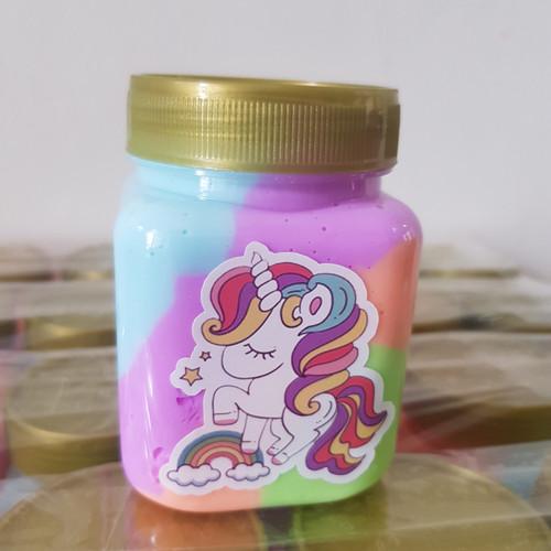 Foto Produk Rainbow slime / Slime Pelangi 220ml, Scented, Tidak bau, dari grosirslimejkt