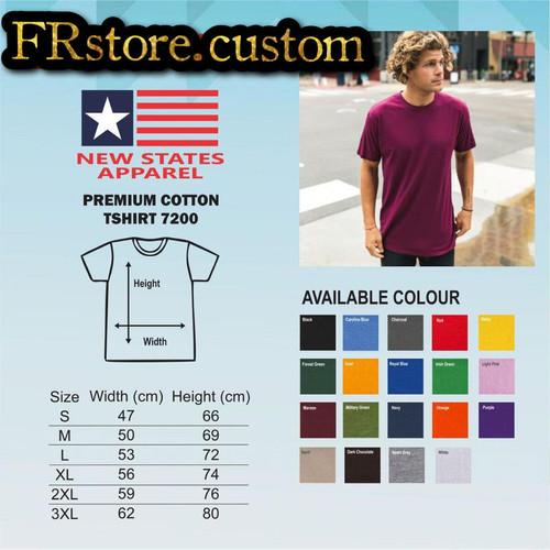 Foto Produk Kaos Polos New States Apparel NSA Premium 7200 Cotton Combed 24s - S, Putih dari FRstore_custom