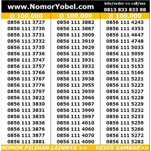 Foto Produk Nomor cantik indosat kartu perdana im3 mentari ooredoo harga 50rb dari NomorYobel