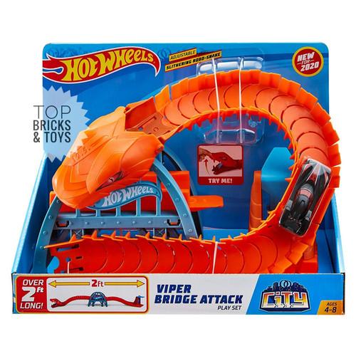 Foto Produk MATTEL, Hot Wheels Hotwheels Viper Bridge Attack Play Set dari Top Bricks & Toys
