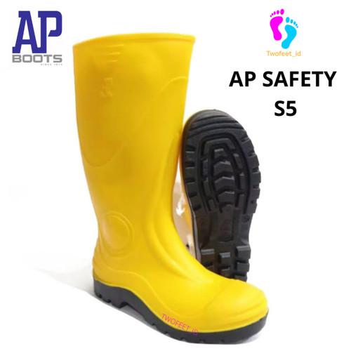 Foto Produk AP SAFETY S5 YELLOW 40-43 - SEPATU BOOT SAFETY KARET- AP BOOTS - Kuning, 40 dari TwoFeet_id