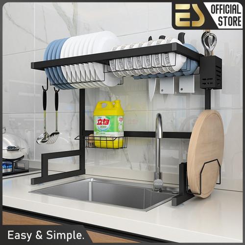 Foto Produk ES Rak Cuci Piring Rak Dapur Rak Serbaguna Rak Meja Multifungsi - Varian 65cm-1, 1 Tingkat dari ES Official Store