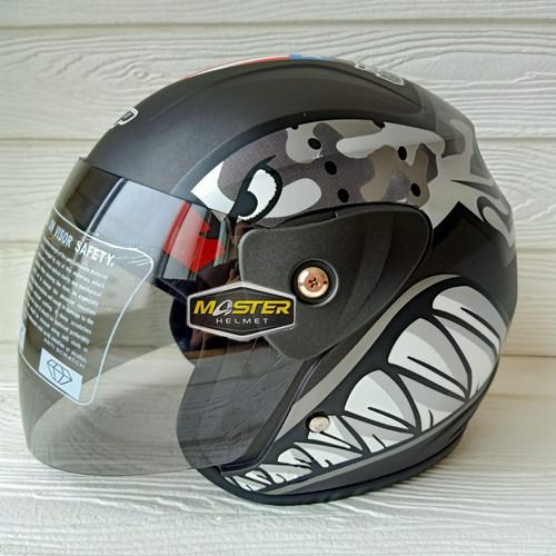 Foto Produk HELM HALF FACE EVOLUTION MOTIF BULLET GREY MIRIP GM EVO HELM DEWASA - GREY dari Master Helmet