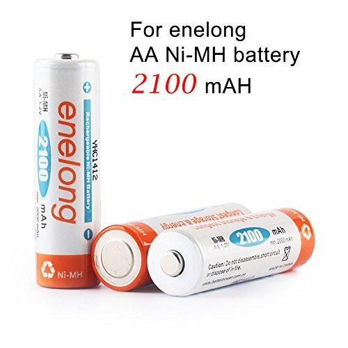 Foto Produk Enelong Baterai Cas AA 2100 mAh NiMh Rechargeable Battery Batre Isi dari Hanika Communication