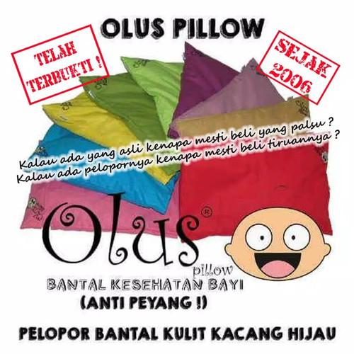 Foto Produk Bantal Olus Pillow / Bantal Anti Peyang Bantal Isi kulit Kacang Hijau - Enilate, Sarung dari Enilate