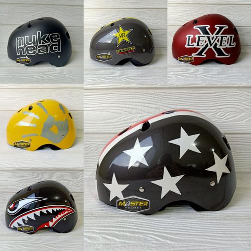 Foto Produk HELM SEPEDA NVR MOTIF HELM SEPEDA LIPAT HELM MODEL BATOK NEW - RANDOM dari Master Helmet
