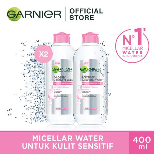 Foto Produk Garnier Micellar Water Pink 400ml (Twin Pack) dari Garnier Official