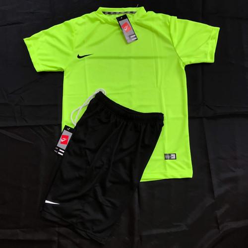 Foto Produk Stelan Jersey Futsal Kaos Olahraga Stabilo Orange Merah cerah - STABILO dari LUCKY SPORTS