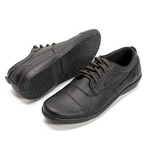 Foto Produk Sepatu Casual pria kerja Dan Santai Handmade Bahan Kulit Anti Slip 201 - Hitam, 39 dari FORDZA Shop