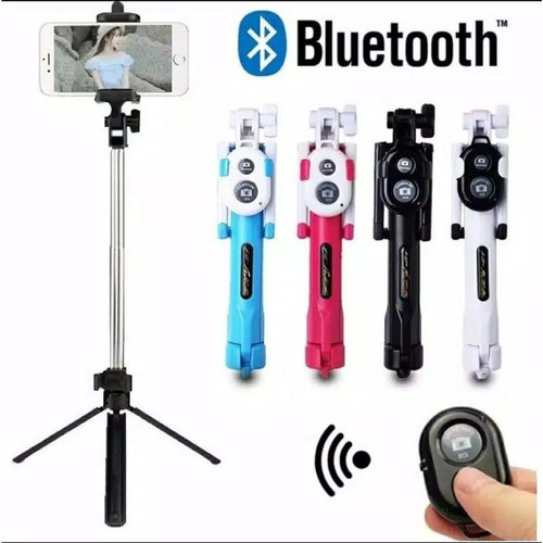 Foto Produk tongsis 3in1 tripod tomsis tombol bluetooth holder handphone dari Waliphone