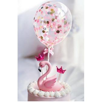 Foto Produk Cake Topper Balon Confetti - Gold dari BeeVee Shop