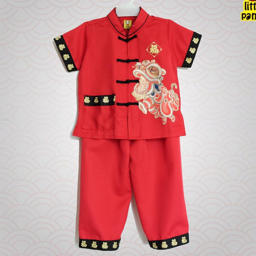 Foto Produk Cheongsam Barongsai / Cheongsam Anak Laki / Baju Setelan Imlek Anak dari kat.babyclothing