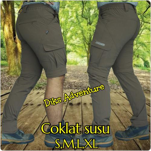 Foto Produk Celana Kargo celana sambung celana gunung celana cargo avaress - coklat susu, S dari diks adventure