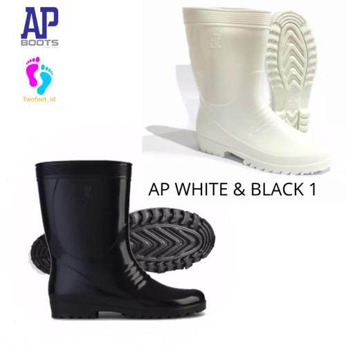 Foto Produk AP BOOTS HITAM 1 - SEPATU BOOT PENDEK SAFETY KARET - AP BLACK 1 25-28 - Hitam, 28 dari TwoFeet_id