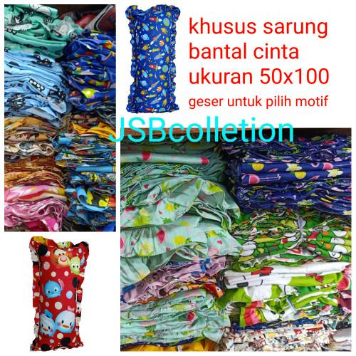 Foto Produk Sarung bantal cinta jumbo 50x100 dari jsb collection