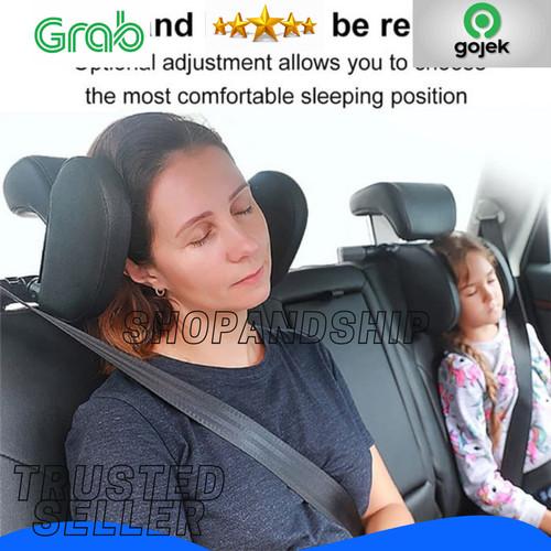 Foto Produk Headrest Neck Bantal Penyangga Kepala Leher Jok Mobil Travel Pillow - dari Shopandship