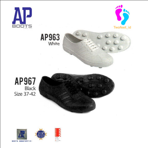 Foto Produk SEPATU KARET AP BOOTS MULTI FUNGSI - AP PUL BOLA 967 HITAM AP BOOTS - Hitam, 38 dari TwoFeet_id